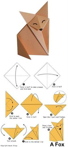 How To Do Easy Origami Drawn Origami Simple Pencil And In Color Drawn Origami Simple