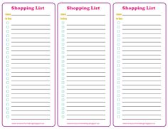 Love Your Home: Free Printable: Shopping List Printable Shopping List, Printable Planner, Free Printables, Love Your Home, Happy Planner, Berries, Posts, Organizing Ideas, Blog