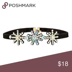 Colorful Frozen Snowflake Choker! So cute for the winter or for the Frozen fan in your life! Iridescent crystals match everything :) Jewelry Necklaces