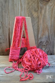 Yarn letter....baby shower gift or in a solid yarn maybe a monogram for GM