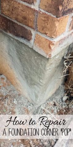 33 Home Repair Secrets From the Pros - Repair A Foundation Corner - Home Repair Ideas, Home Repairs On A Budget, Home Repair Tips, Living Room, Bedroom, Kitchen Repair, Home Improvement, Quick And Easy Home Tips http://diyjoy.com/diy-home-repair-secrets