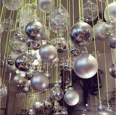 like this idea... especially for high ceilings.  or an entry way but with less obvious string