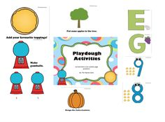 This is a great set of placemats for play dough centers.   Check out my TPT store: https://www.teacherspayteachers.com/Store/The-Teacher-Zone