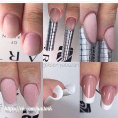 How to Choose Nail Tips – Page 6017200326 – NaiLovely Diy Acrylic Nails, French Acrylic Nails, French Nail Art, Sculptured Nails, Nail Techniques, Edge Nails, Manicure E Pedicure, Crystal Nails, Nail Art Hacks