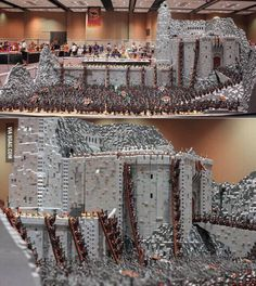 """Here's a LEGO creation of Helm's Deep, from """"Lord of the Rings"""". and other cool LEGO facts Lego Design, Lego Burg, Helms Deep, Construction Lego, Amazing Lego Creations, Lego Boards, Diy Inspiration, Lego Building, Lego Brick"""