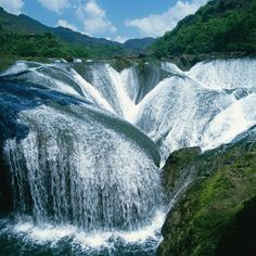 Jiuzhaigou Pearl Waterfall, China