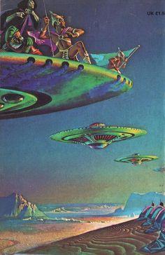 science fiction illustrations from the Art Alien, Sci Fi Wallpaper, Sci Fi Kunst, Science Fiction Kunst, Arte Sci Fi, Bilal, Frank Herbert, 70s Sci Fi Art, Aliens And Ufos