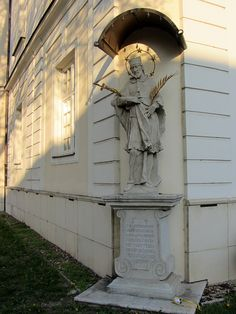 This statue sits on a corner of one of the older Trnava University buildings and bears an inscription in German. Statue Of Liberty, University, Corner, Spaces, Building, Travel, Statue Of Liberty Facts, Viajes, Statue Of Libery