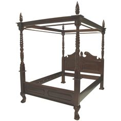 French Style Four Poster Canopy Bed. This is exactly the kind of bed we are looking for.