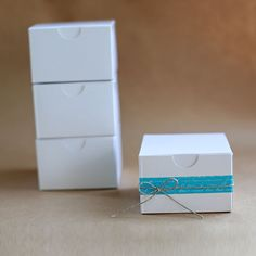 EcoWhite Gloss Gift Box 3x3x2  Lot of 25 by leboxboutique on Etsy, $9.24