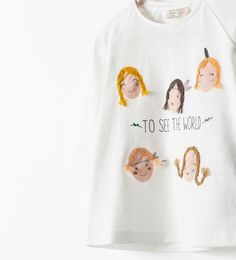 Image 4 of EMBROIDERED T-SHIRT from Zara