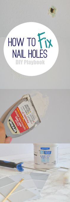 Get rid of holes in your wall the easy way with this DIY tutorial.