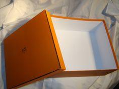 vintage authentic HERMES signature orange BIRKIN BOX extra large size