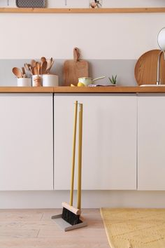 Andre Jardin Broom and Dustpan Set from Mr. and Mrs. Clynk   Remodelista