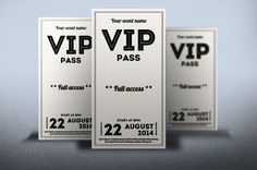 Clean retro style VIP PASS card by Tzochko on Creative Market @TwinsNextDoor