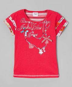 Look at this #zulilyfind! Pink Festive Tee - Infant, Toddler & Girls #zulilyfinds