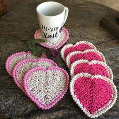 Crocheted coaster set of 4 coaster drink coaster cotton