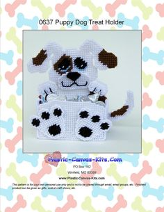Puppy Dog Treat/Candy Holder-Plastic Canvas by PlasticCanvasMania