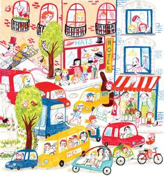 Portfolio | Natascha Rosenberg Kawaii Illustration, Children's Book Illustration, Digital Illustration, Illustrations, Building Illustration, Vintage Drawing, Cute Art, Book Art, Art Drawings