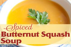 Spiced Butternut Squash Soup - Not only is it delicious and versatile to cook, butternut squash is also low in sodium and saturated fat and rich in complex carbohydrates. It's a great source of vitamins and minerals, too, containing vitamins A and C, beta-carotene, potassium, magnesium, and calcium. Talk about a well-balanced food! http://sunsetfoods.com