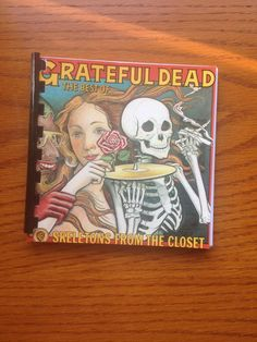 Grateful Dead blank book.  Handmade item from by outpostrecordshop