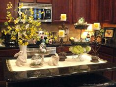 chocolate easter bunny display | spring decorating | pinterest