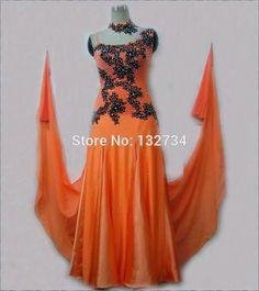Pas cher Orange moderne Waltz Tango Ballroom Dance robe, Lisse robe de bal, Robe de bal Standard filles B 0018, Acheter  Salle de danse de qualité directement des fournisseurs de Chine:                   Détails du produit                           100% marque nouvelle concurrence latine danse robe.