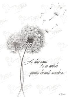 Dandelion Hand Drawn Digital Illustration with free postage | Etsy Dandelion Tattoo Quote, Dandelion Tattoo Design, Dandelion Drawing, Police Cursive, Thé Illustration, Grieving Quotes, Dandelion Flower, Photoshop, Grief