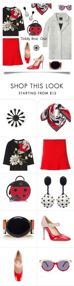 """""""Winter Flowers"""" by metter1 ❤ liked on Polyvore featuring Maison Scotch, Givenchy, Marni, The Elder Statesman, Charlotte Olympia, Oscar de la Renta, Valentino, Preen and teddybearcoat"""