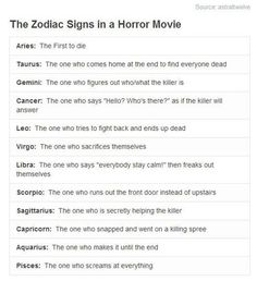 Well, that sucks. I don't wanna come home to find everyone dead!!! But, hey, they got my Libra dead wrong, and my Sagittarius just right, so maybe they got me wrong too?