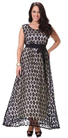 02c9d37322d Yacun Women s Swing Bridesmaid Dress Lace Maxi Evening Gown Dresses Plus  Size at Amazon Women s Clothing store