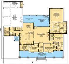 3 Bedroom Acadian Home Plan French Country Bonus Room Butler Walkin Pantry Study Architectural Designs Modify study into a kitchen eating area or push family roo. Acadian Homes, Acadian House Plans, The Plan, How To Plan, Plan Plan, Dream House Plans, House Floor Plans, Porch Shelter, Autocad