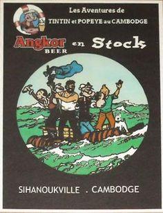 Les Aventures de Tintin - Album Imaginaire - Angkor Beer en Stock