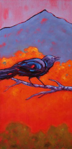 """""""ChitChat"""" by Dianna Fritzler Oil ~ 24"""" x 12"""""""