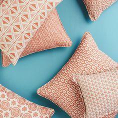 Walter G Wholesale Portal - AUS - Tapi Guava linen cushion 55x55cm Portal, Fabrics, Cushions, Throw Pillows, Tejidos, Toss Pillows, Toss Pillows, Pillows, Decorative Pillows