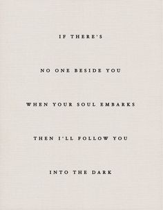 death cab for cutie | i will follow you into the dark