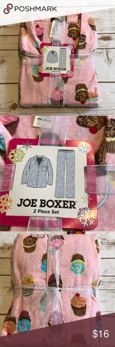 NWT Joe Boxer cupcake pajamas Adorable cupcake two piece set 🍰 100% cotton Intimates & Sleepwear Pajamas