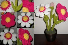 Wilma aan de haak!: Bloemen in pot