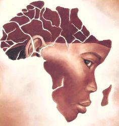 Mama Africa Elephant Afrique, Africa Tattoos, Africa Map Tattoo, Afrique Art, Black Artwork, Out Of Africa, Afro Art, African Diaspora, Arte Pop