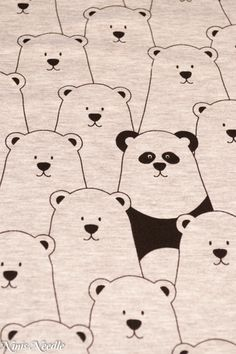 Jersey - Jersey Eisbären Bären Panda - ein Designerstück von Ninis-Needle bei DaWanda
