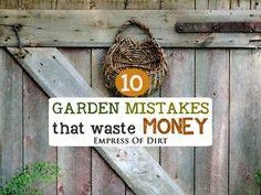 10 Garden Mistakes that Waste Money | eBay