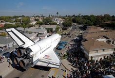 AP PHOTOS: Endeavour makes terrestrial journey - Sci/Tech news