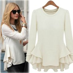a7ec0d5ee321a6 Kristin Cavallari White Peplum Blouse White Cotton Blouse