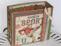Graphic 45 Good Ol' Sport Mini Album, Father's Day Album, Father's Day Gift Sport's Fan Gift by BellaBoutique23 on Etsy