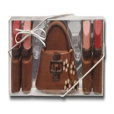 Milk Chocolate Lipsticks and Handbag £6.99 FREE UK Delivery.  http://www.ragstorichesuk.com/gifts/confectionery/milk-chocolate-lipsticks-and-handbag-detail