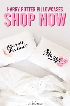 """Super sweet Harry Potter decor ahead! Tell your loved one the famous Snape and Lilly line, """"After all this time? Always"""" every single day! These romantic bedroom pillows are soft, washable, and give a great message to your bedroom decor. Perfect as a unique wedding gift or 2 year cotton anniversary gift for any Harry Potterhead! #HarryPotter #HarryPotterDecor #BedroomDecor #Pillows #WeddingGift #OhSusannah Funny Wedding Gifts, Creative Wedding Gifts, Wedding Humor, 2 Year Anniversary Gift, Cotton Anniversary Gifts, Romantic Bedroom Decor, Wedding Bedroom, Kids Pillows, Throw Pillows"""