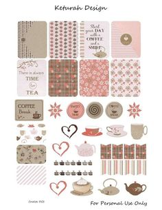 Coffee and Tea Freebie Free Coffee and Tea Planner Stickers To Do Planner, Free Planner, Planner Pages, Happy Planner, Wash Tape, Journal Stickers, Printable Planner Stickers, Free Printables, Planner Organization