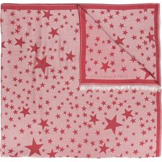 Stella McCartney star print scarf ($605) ❤ liked on Polyvore featuring accessories, scarves, purple scarves, star scarves, stella mccartney, pink scarves and purple shawl