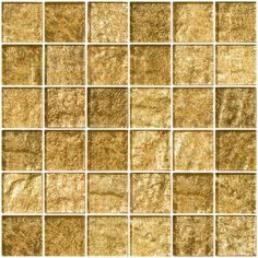 This opaque champagne shimmer metallic 2 in. glass tile is a golden blush with light brown undertones. Sumptuous in appearance, the unique patterns in metal foil rest beneath an luxuriously deep 8 mm Stone Mosaic Tile, Marble Mosaic, Mosaic Glass, Ceramic Subway Tile, Glass Subway Tile, Tahiti, Best Floor Tiles, Tuile, Tile Crafts