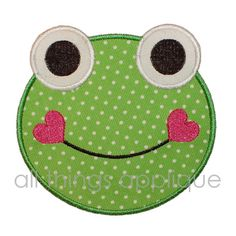 Smiling Frog Machine Embroidery Applique by allthingsapplique